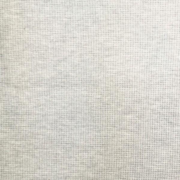 Waffel Jersey Hellgrau Meliert 0,5 m