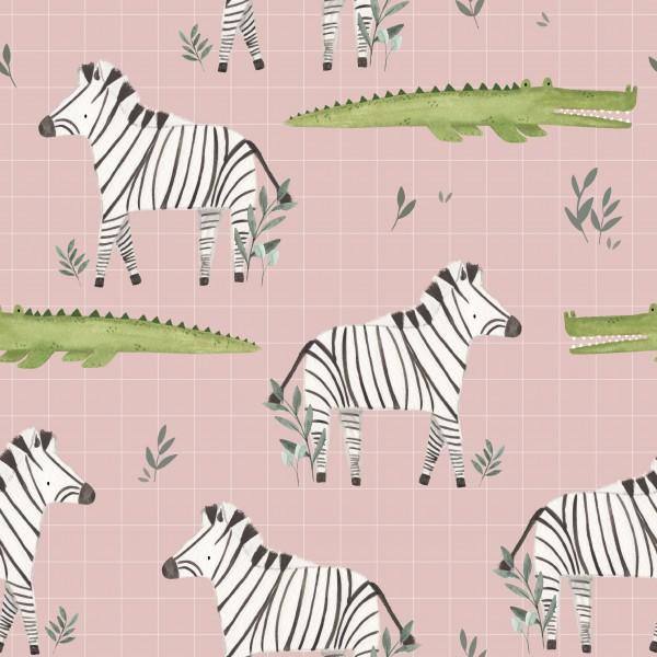 Kroko-Zebra Pink Jersey 0,5 m