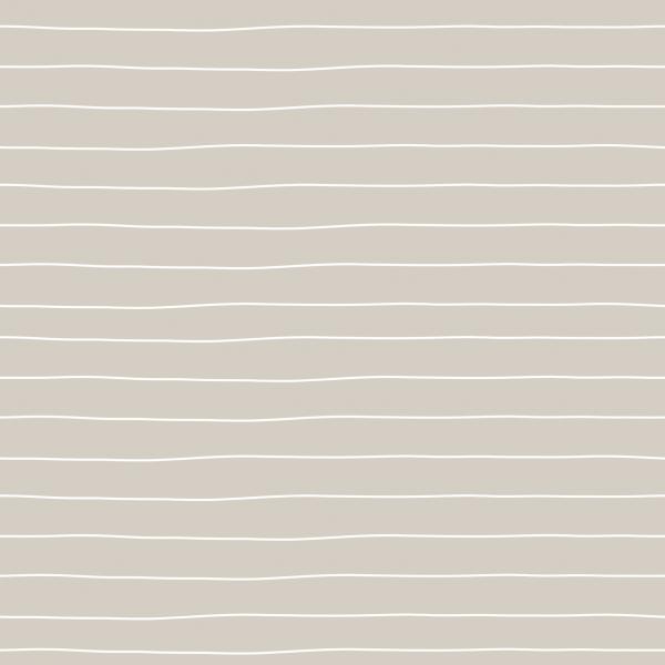 Kombistoff Stripes Small Dark Cream Jersey 0,5 m