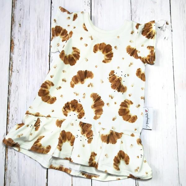Cutie Shirt, Volant Saum und Rüschen-Ärmel, Croissant Jersey, Gr. 92