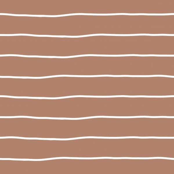 Kombi Stripes Bold Blush Weiß Jersey 0,5 m
