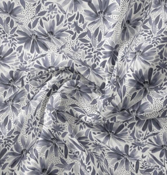 Kornblumen Blau Jersey family fabrics 0,5 m