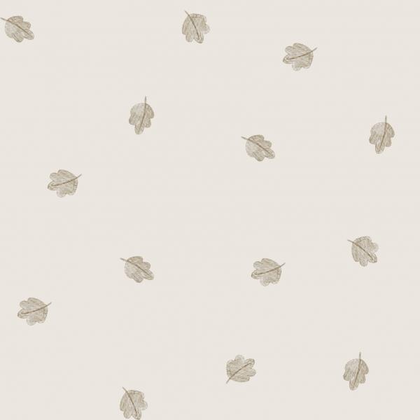 Eichenblätter Cream Jersey 0,5 m
