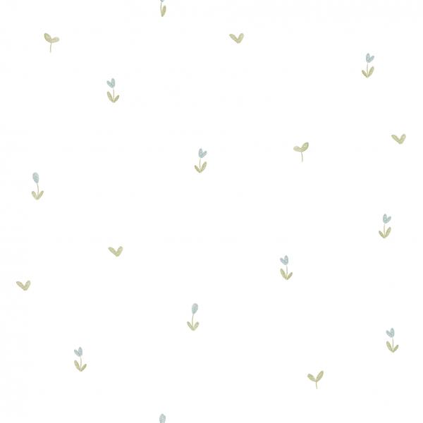 Kombistoff Mini-Blümchen Weiß Jersey 0,5 m