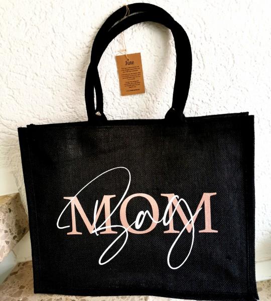 MOM Bag Jute Shopper Schwarz
