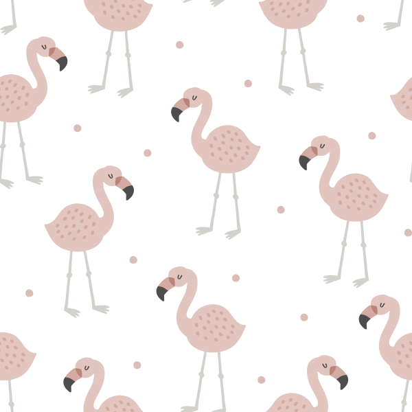 Flamingo weiß Jersey 0,5 m