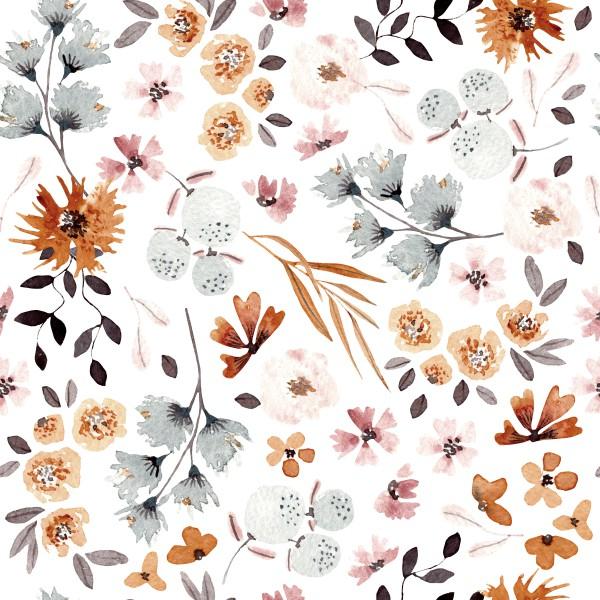 Herbst Blumen Mix Jersey 0,5 m