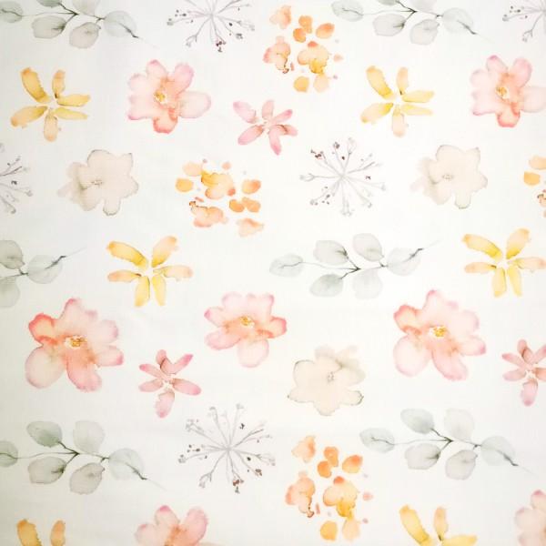 Aquarell-Blüten Jersey 0,5 m