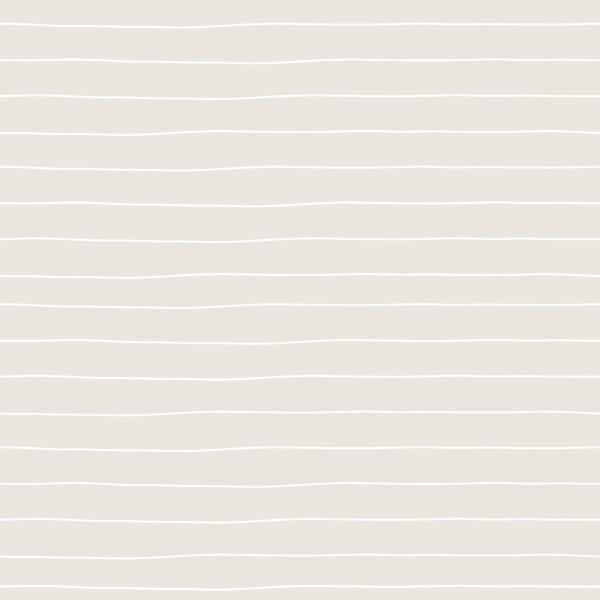 Kombi Stripes Schmal Cream Weiß Jersey 0,5 m