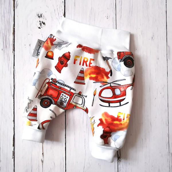 Pumphose Feuerwehr weißes Bündchen Gr. 56