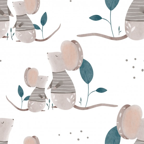 Mr. & Baby Mouse Jersey 0,5 m