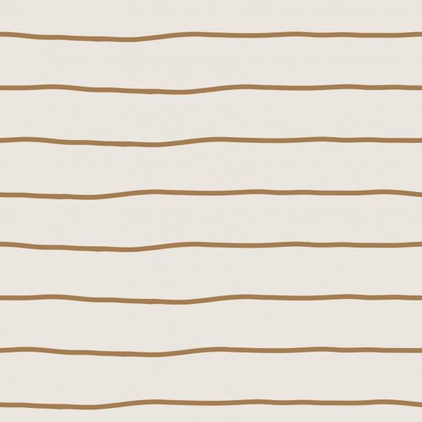 Kombistoff Stripes Cream Caramel Jersey 0,5 m