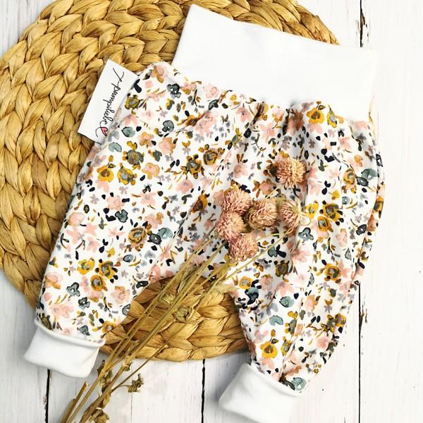 Pumphose Pastell-Blumen Gr. 56