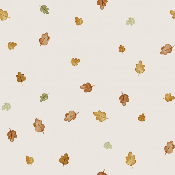 Kombi Herbstlaub Creme Jersey 0,5 m